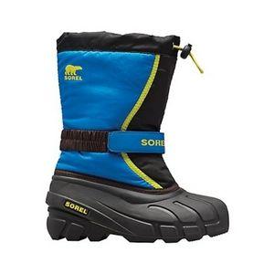 Sorel Flurry Boot Kids Boys Winter Boots Waterproof 4 Blue